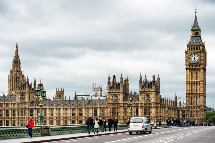 Palace of Westminster and Big Ben Fototapet
