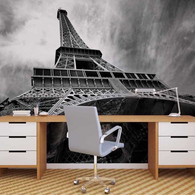 Paris Eiffel Tower Black White Fototapet