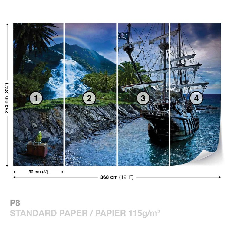 Pirate Sailing Ship Fototapet
