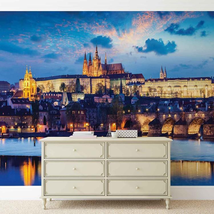 Prague City River Fototapet