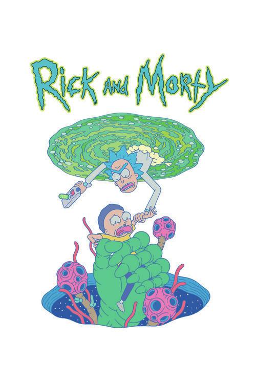Rick & Morty - Rädda mig Fototapet