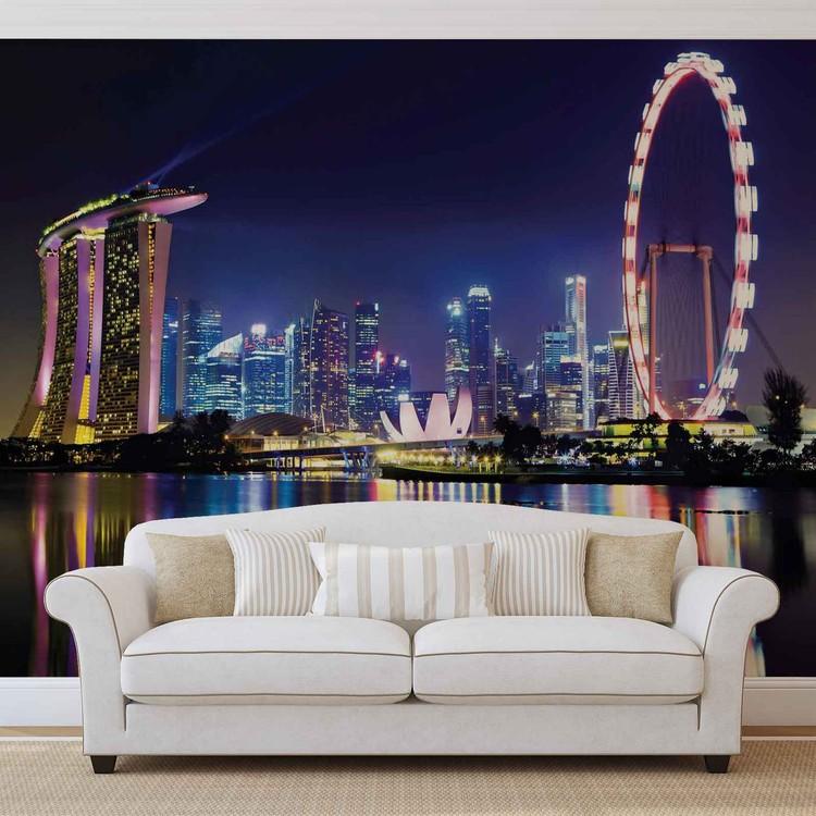 Singapore City Skyline Fototapet
