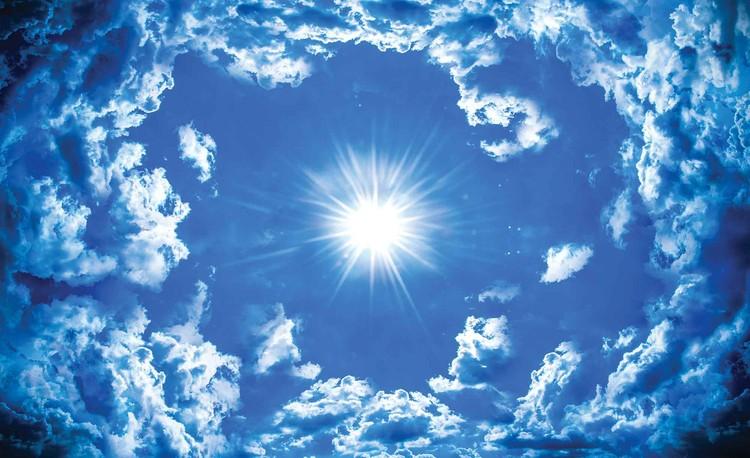 Sky Clouds Sun Nature Fototapet