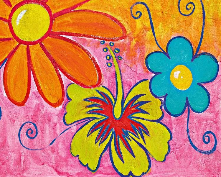 Spring Flowers Fototapet
