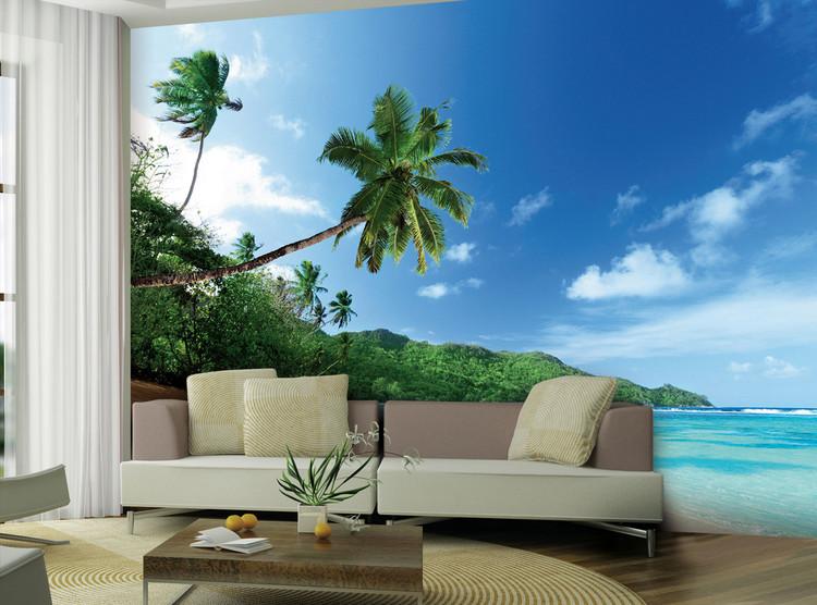 Strand - Palm Vinyl väggmålningar