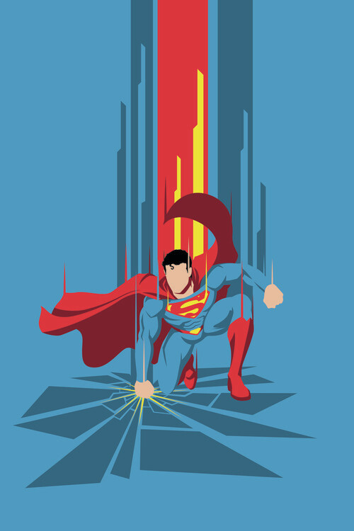 Superman - Power Blue Fototapet
