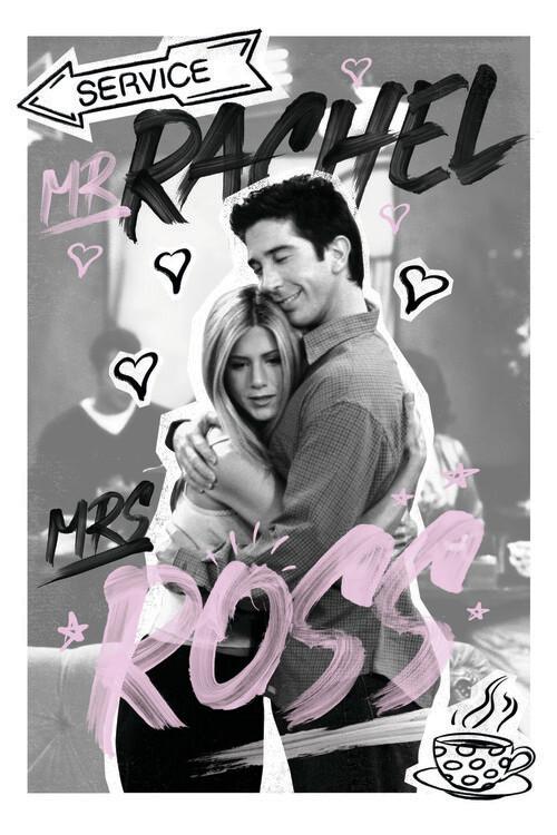 Vänner - Rachel & Ross Fototapet