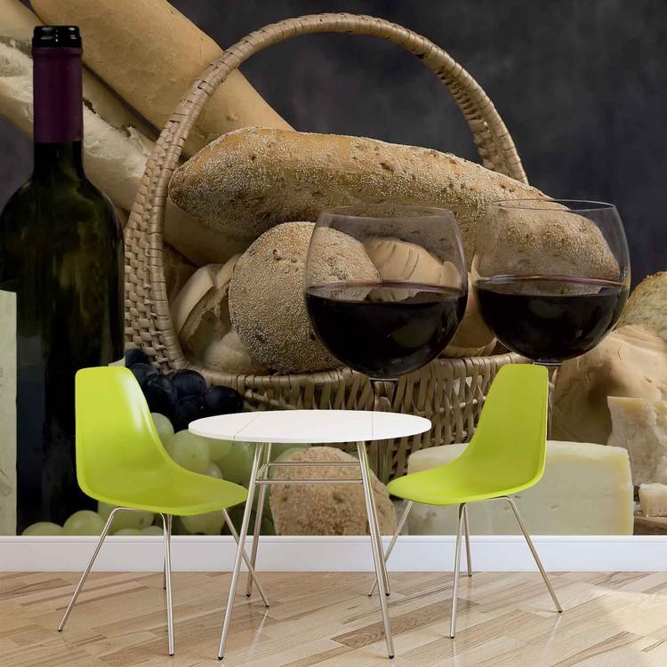 Wine And Bread Fototapet