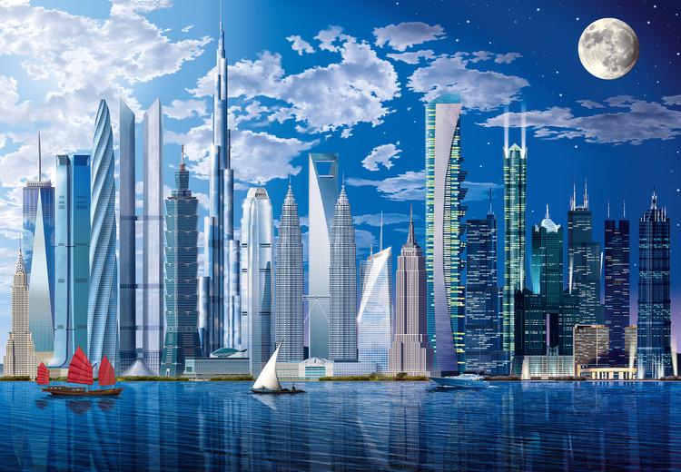 WORLDS TALLEST BUILDINGS Fototapet