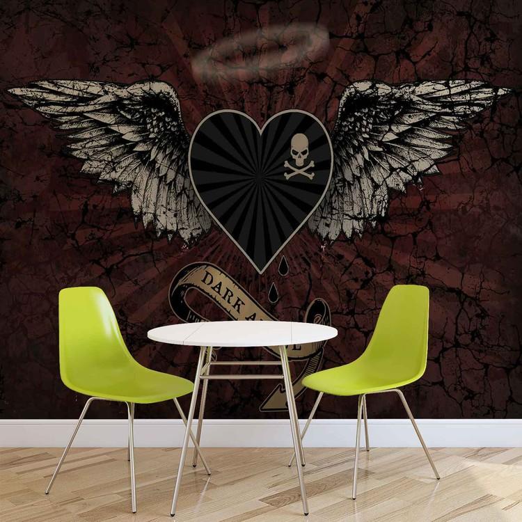 Alchemy Heart Dark Angel Tattoo Tapéta, Fotótapéta