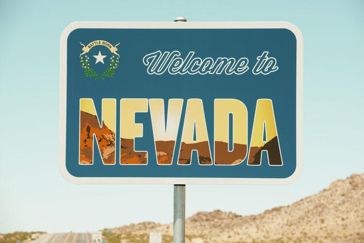 American West - Welcome to Nevada Tapéta, Fotótapéta