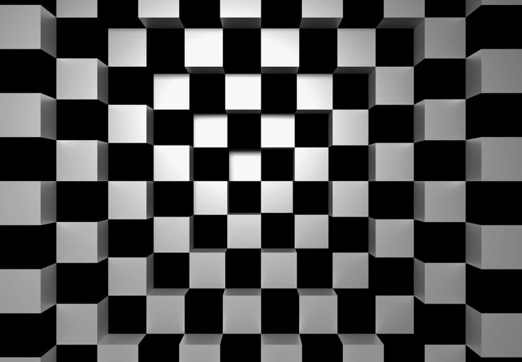 Black + White Squares Tapéta, Fotótapéta
