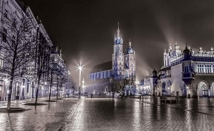 City Skyline Krakow Tapéta, Fotótapéta