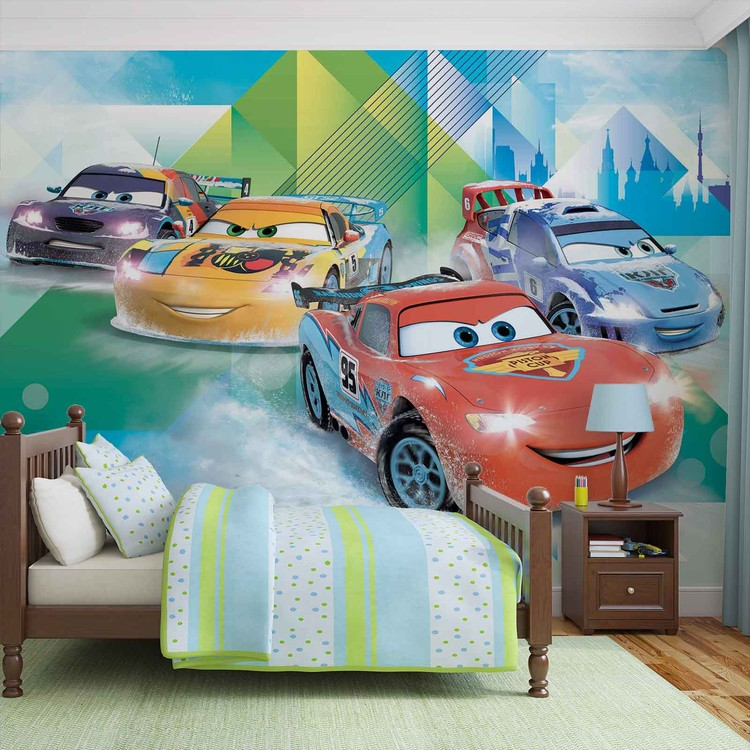 Disney Cars Lightning McQueen Camino Tapéta, Fotótapéta