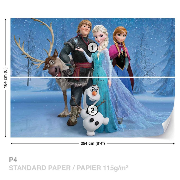 Disney Frozen Elsa Anna Olaf Sven Tapéta, Fotótapéta