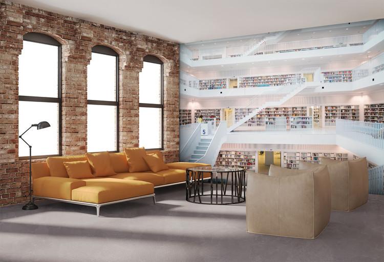 Könyvtár - White Fali tapéta
