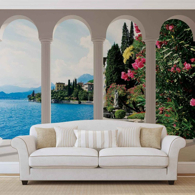 Lake Como Italy Arches Tapéta, Fotótapéta