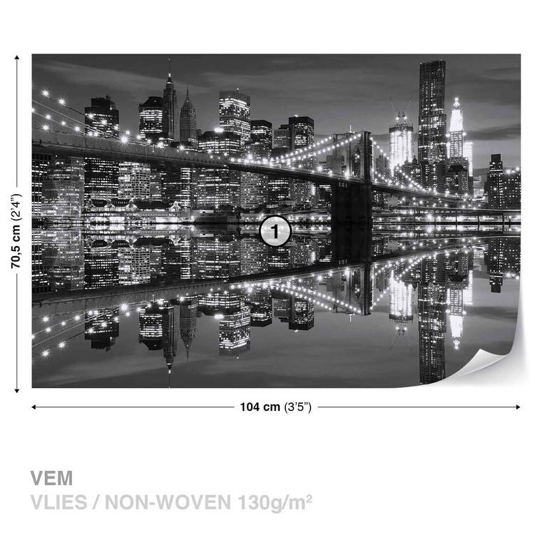 New York City Skyline Brooklyn Bridge Tapéta, Fotótapéta
