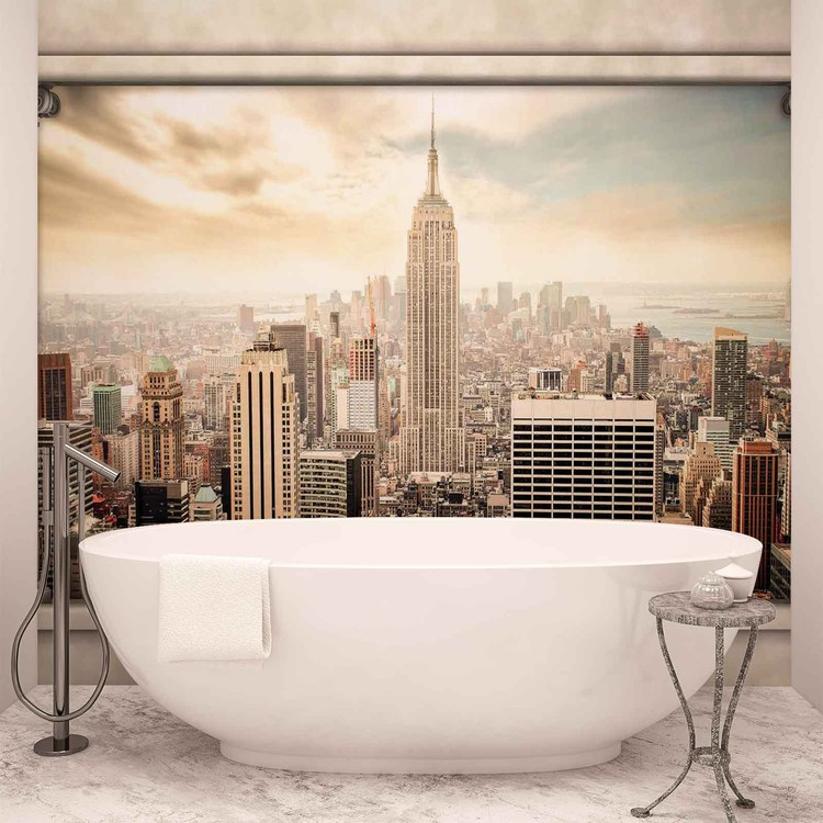 New York City View Pillars Fali tapéta