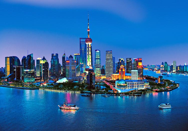 SHANGHAI - skyline Fali tapéta