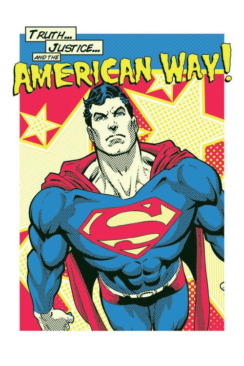 Superman - American Way Tapéta, Fotótapéta