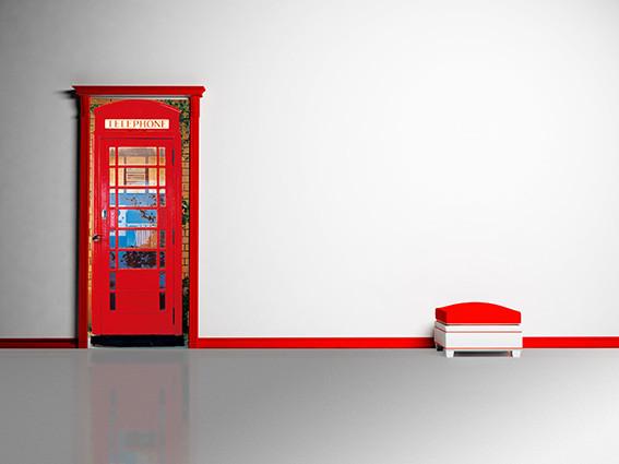 TELEPHONE BOX Fali tapéta