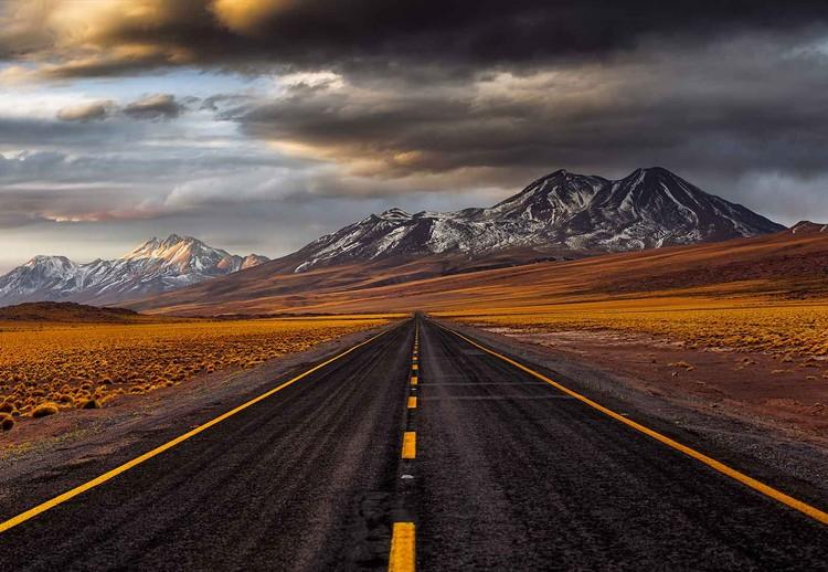 Yellow Road Tapéta, Fotótapéta