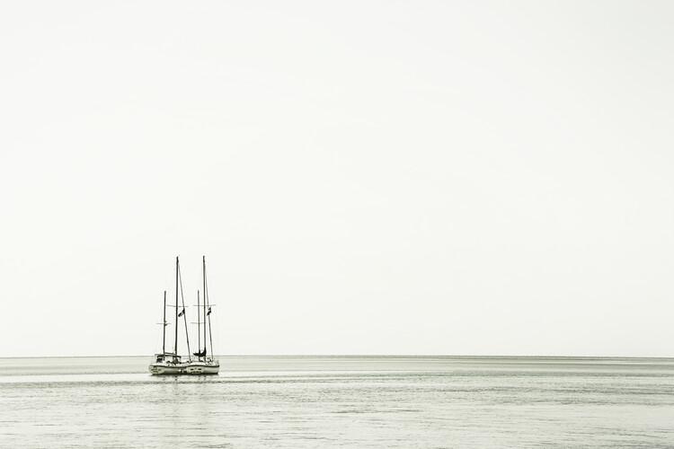At sea   Vintage Fototapeta