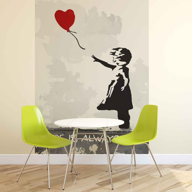 Banksy Street Art Balloon Heart Graffiti Fototapeta