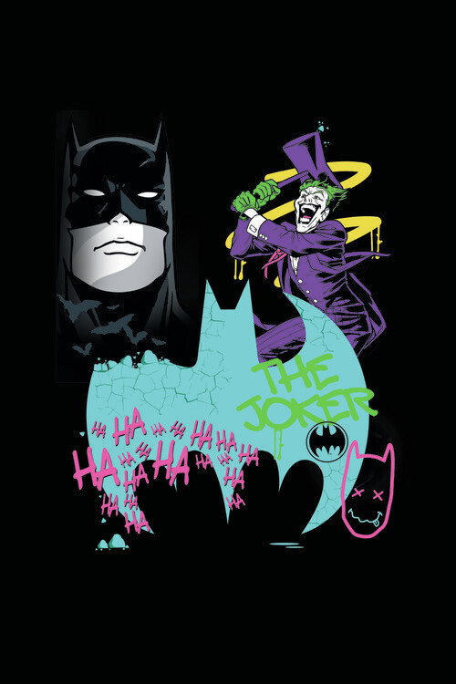 Batman vs Joker - Art Fototapeta