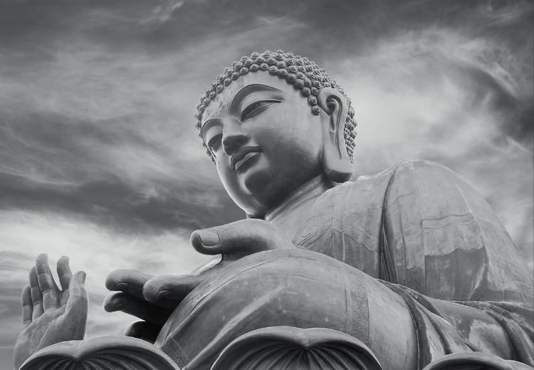 Buddha - Black and white Fototapeta