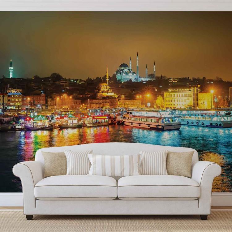 City Turkey Bosphorus Multicolour Fototapeta