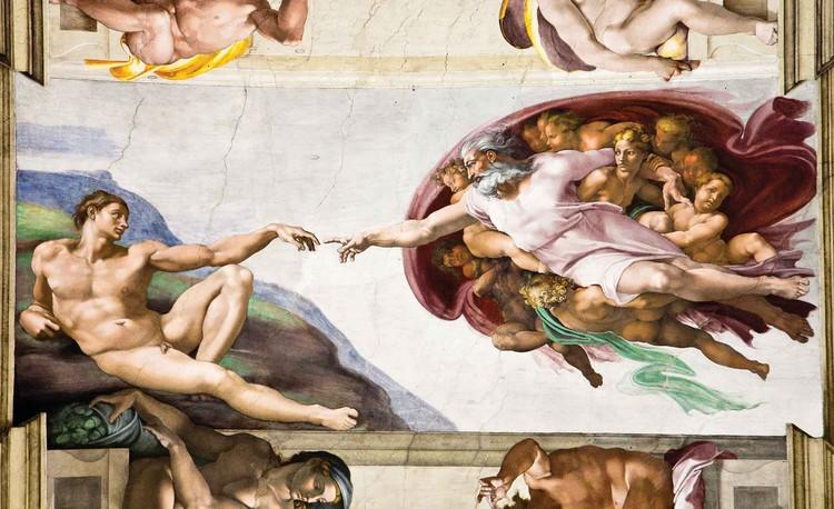 Creation Adam Art Michelangelo Fototapeta