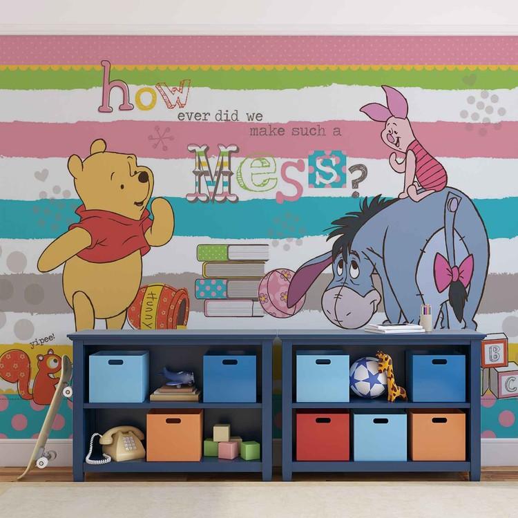 Disney Winnie Pooh Eeyore Piglet Fototapeta