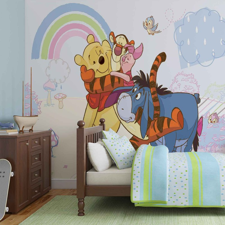 disney winnie pooh piglet tigger eeyore fototapeta tapeta. Black Bedroom Furniture Sets. Home Design Ideas