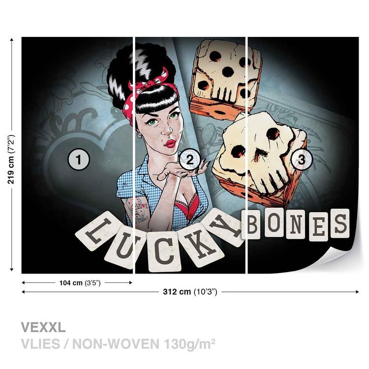 Lucky Bones Alchemy Tattoo Fototapeta