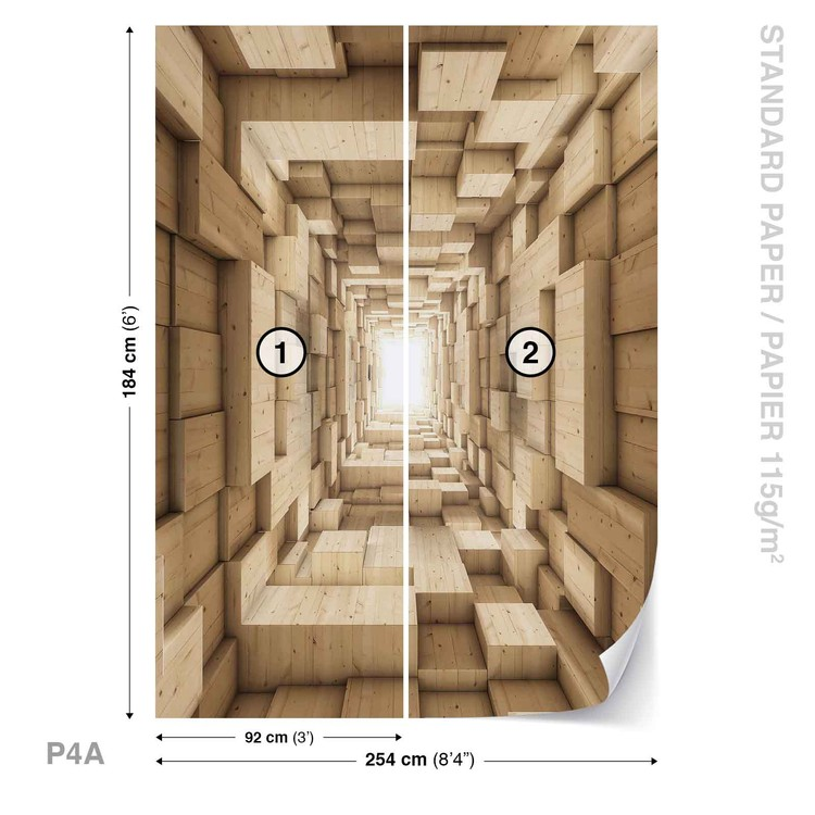 Modern Abstract Design 3d Fototapeta
