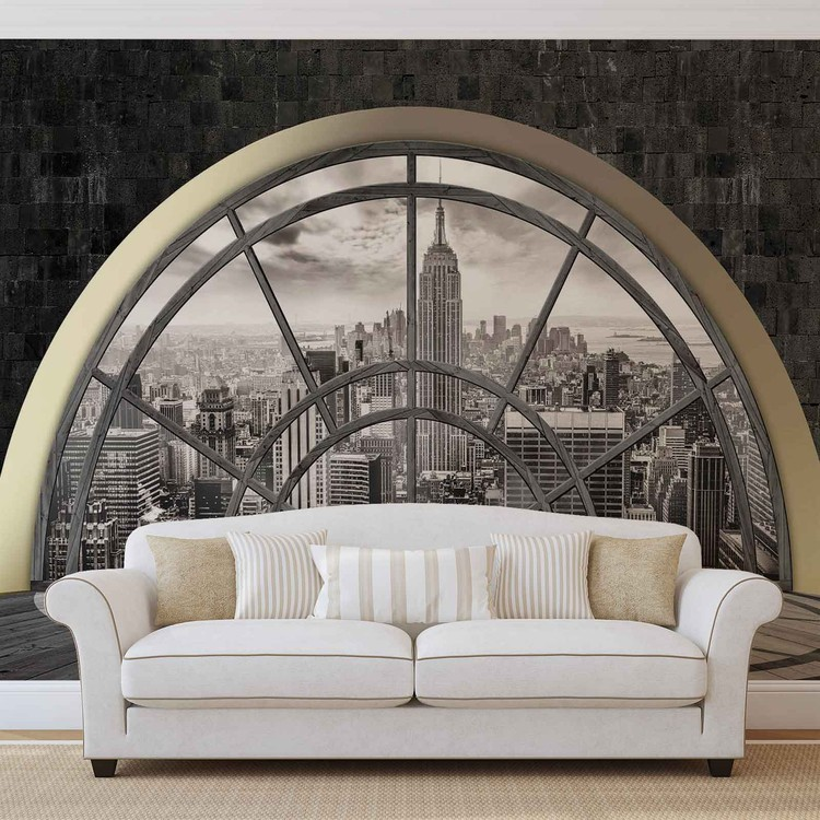 New York City Skyline Window Fototapeta
