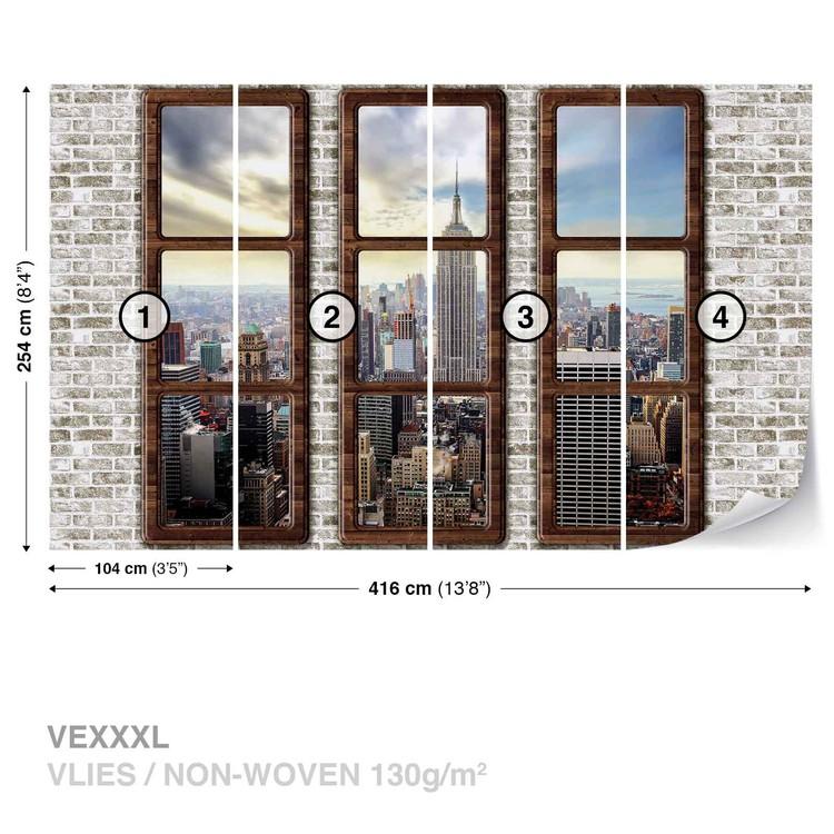 New York City Skyline Window View Fototapeta