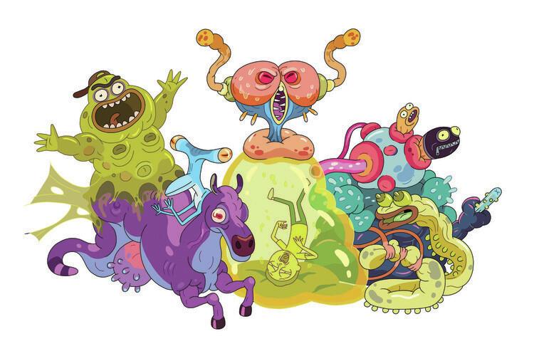 Rick & Morty - Monsters Fototapeta
