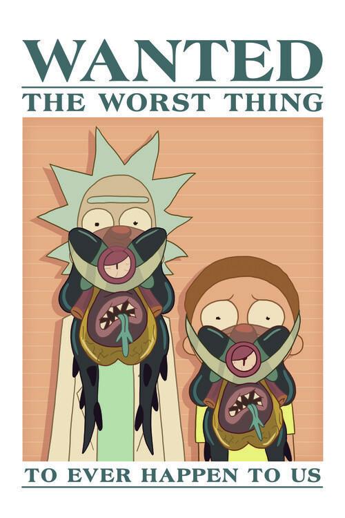 Rick & Morty -  Wanted Fototapeta