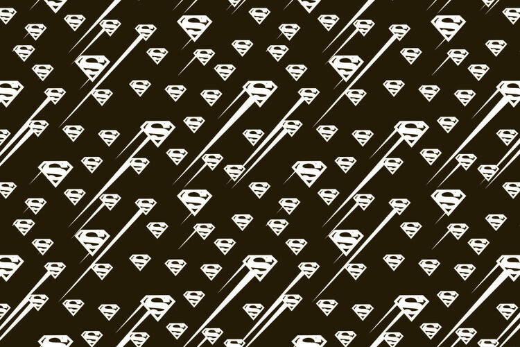 Superman - Black and white symbol Fototapeta