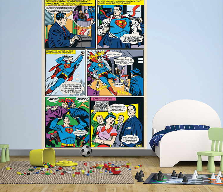 Superman Comic Fototapeta