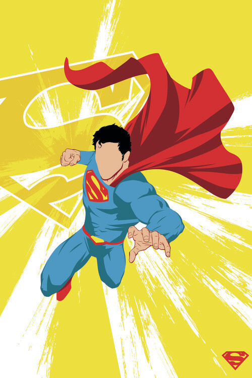 Superman - Power Yellow Fototapeta