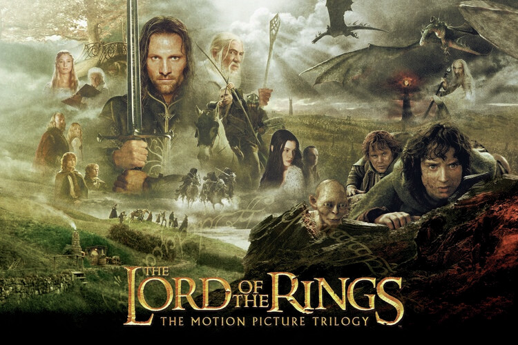 The Lord of the Rings - Trilogija Fototapeta