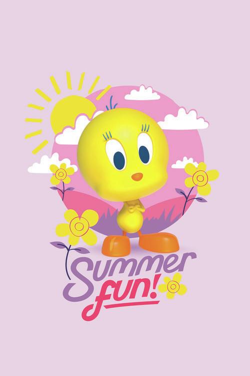 Tweety - Summer fun Fototapeta