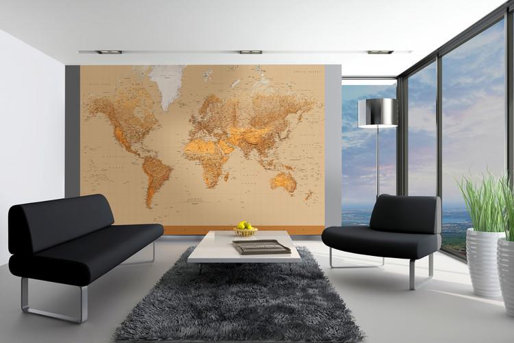 World Map - Antique Style Fototapeta