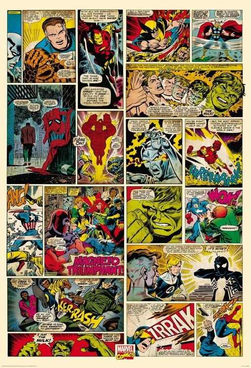 Avengers Comic - Marvel Fototapete