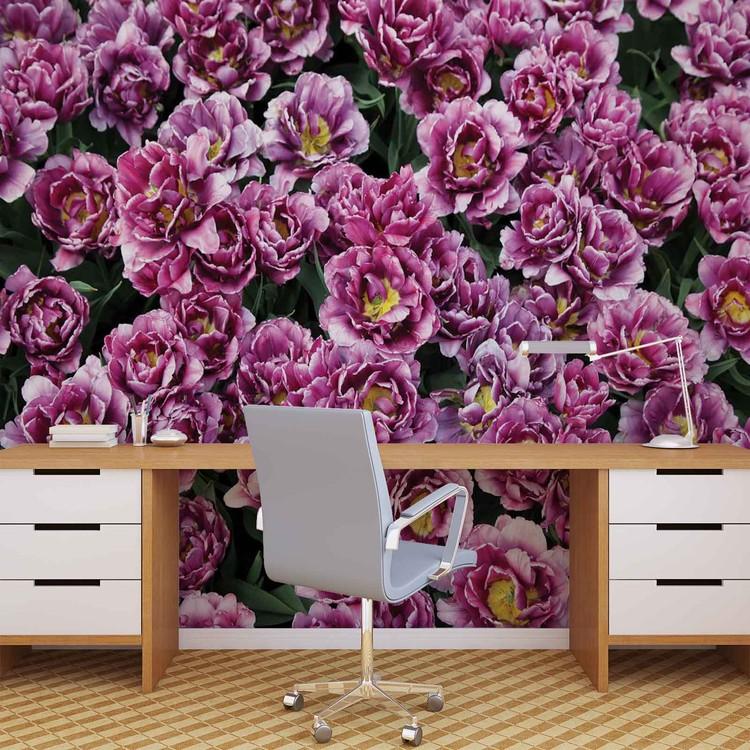 fototapete tapete blumen lila natur bei europosters kostenloser versand. Black Bedroom Furniture Sets. Home Design Ideas