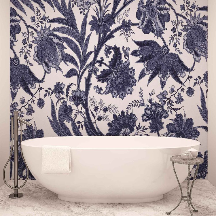 fototapete tapete blumen pflanzen muster vintage bei. Black Bedroom Furniture Sets. Home Design Ideas